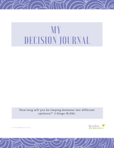 Decision Journal