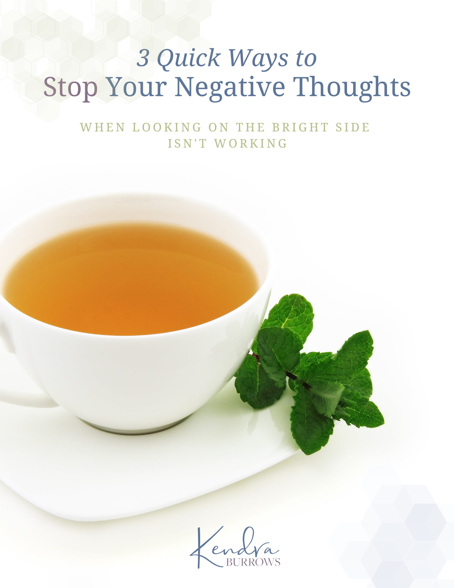 Cover of How to Stop Your Negative Thoughts